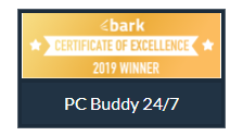 Certificate of Excelence Bark